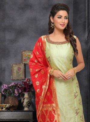 Green Ceremonial Designer Salwar Kameez