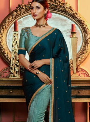 Green Ceremonial Silk Saree