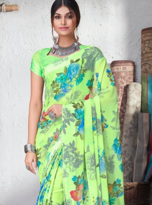 Green Color Bollywood Saree