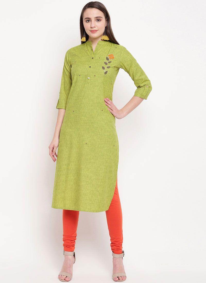 Green Color Casual Kurti