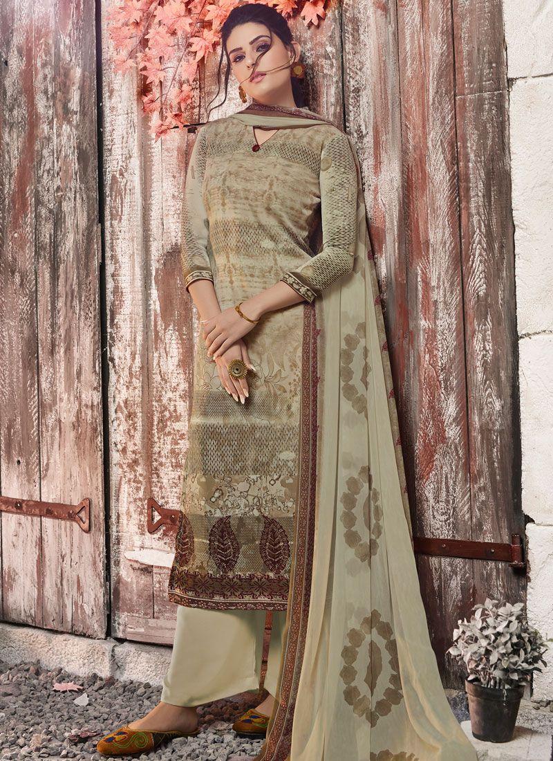 Green Color Designer Pakistani Suit