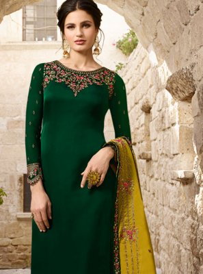 Green Color Designer Salwar Suit