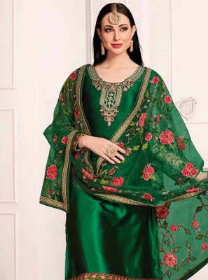 Green Color Salwar Kameez