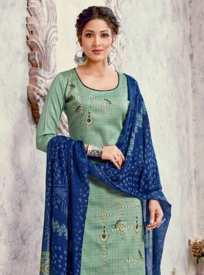 Green Color Trendy Palazzo Suit