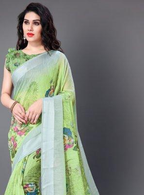 Green Cotton Festival Classic Saree