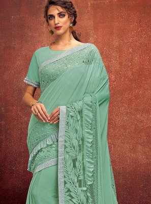 Green Designer Sangeet Designer Saree