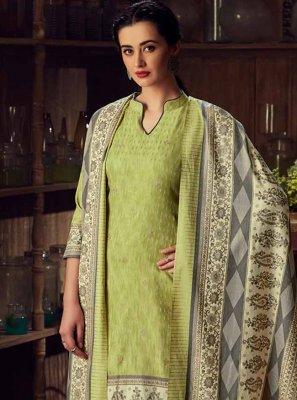 Green Digital Print Designer Salwar Kameez