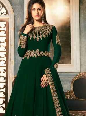 Green Embroidered Georgette Anarkali Salwar Kameez