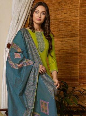 Green Embroidered Sangeet Salwar Kameez