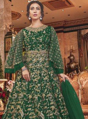 Green Embroidered Wedding Salwar Suit