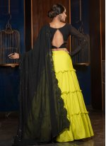 Green Engagement Designer Lehenga Choli
