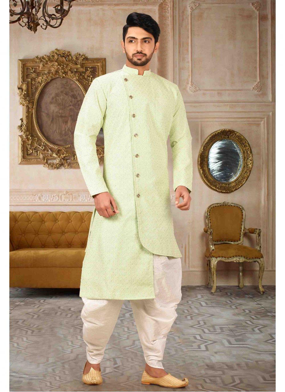 Green Engagement Kurta Pyjama