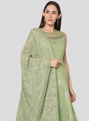 Green Engagement Salwar Suit