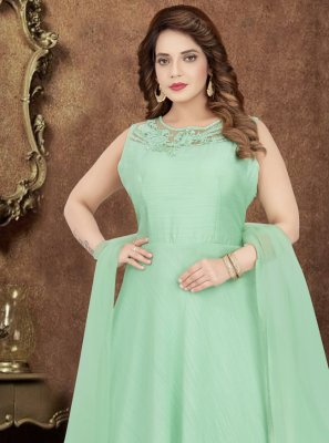 Green Engagement Trendy Designer Salwar Kameez
