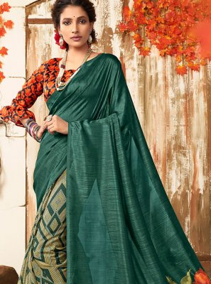 Green Festival Chanderi Designer Saree