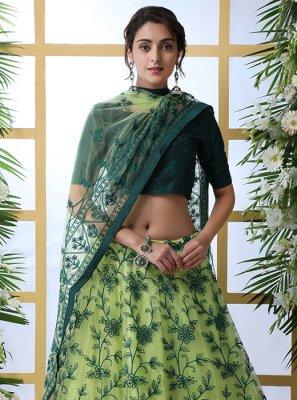 Green Festival Designer Lehenga Choli