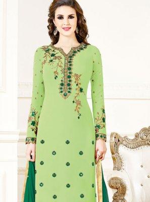 Green Festival Designer Salwar Suit