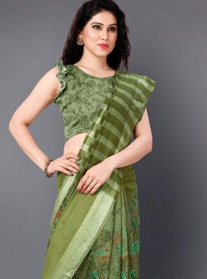 Green Festival Designer Saree