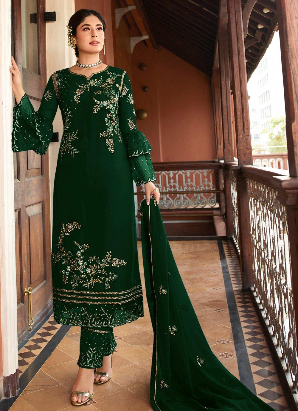 Green Festival Salwar Kameez