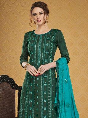 Green Festival Salwar Suit