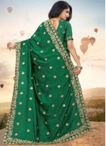 Green Festival Silk Designer Saree