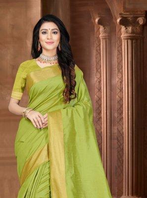 Green Festival Silk Designer Saree