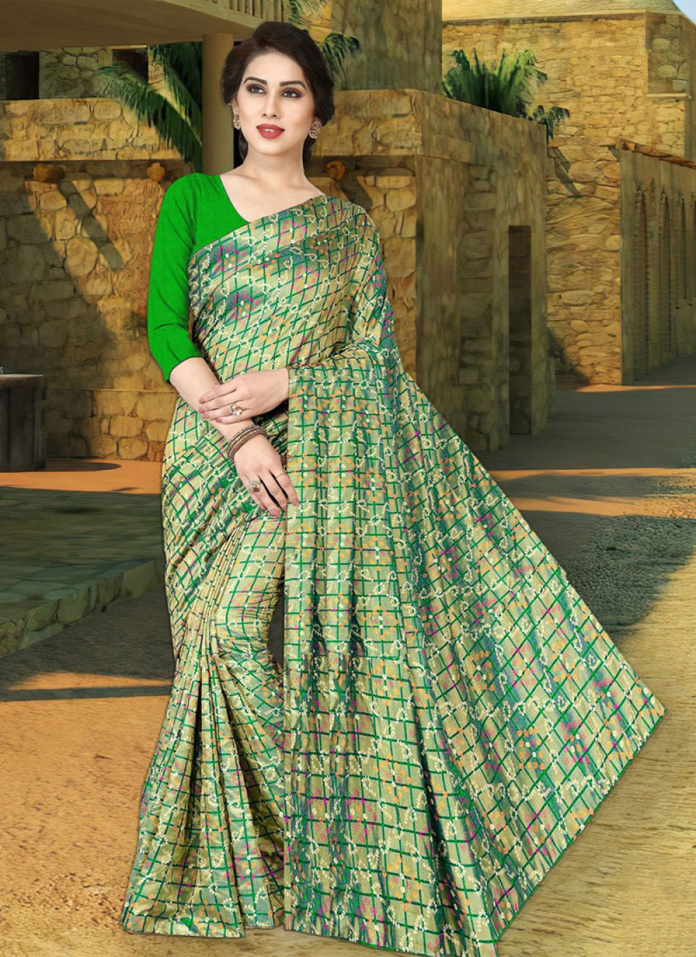 Green Festival Silk Trendy Saree