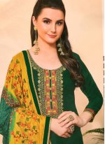 Green Festival Trendy Salwar Suit