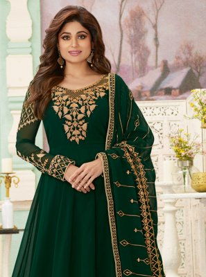 Green Georgette Reception Salwar Suit