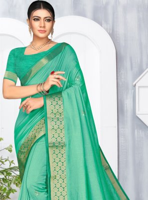 Green Lace Silk Classic Saree