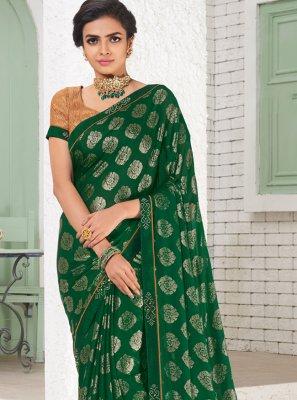 Green Mehndi Saree