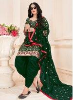 Green Mirror Salwar Suit