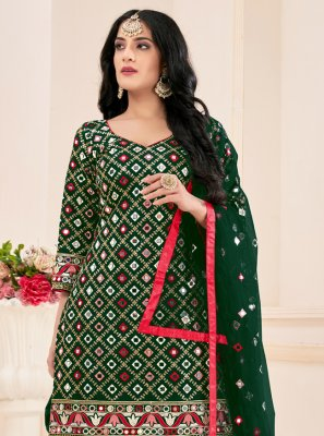 Green Mirror Salwar Suit