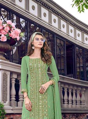 Green Net Salwar Suit