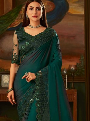 Green Party Classic Designer Saree