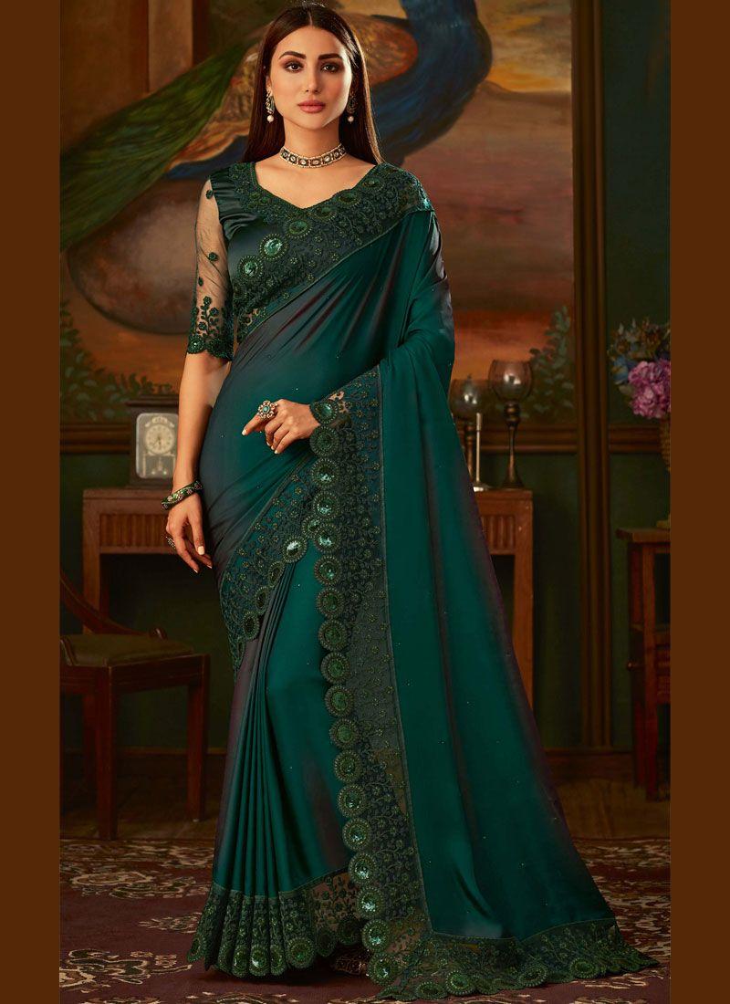 Green Party Classic Designer Saree
