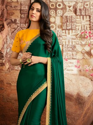 Green Party Classic Saree