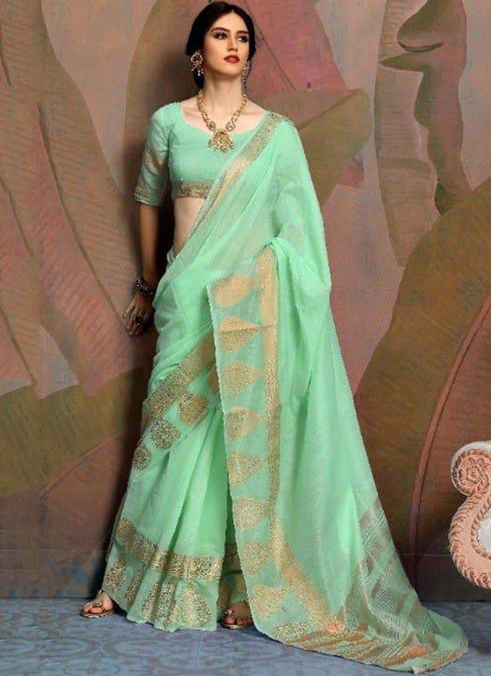 Green Party Classic Saree