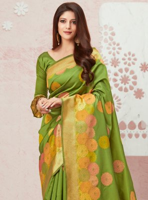 Green Party Contemporary Saree