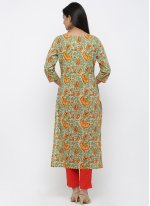Green Party Cotton Salwar Suit