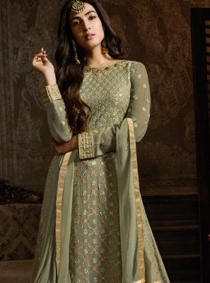 Green Party Designer Lehenga Choli