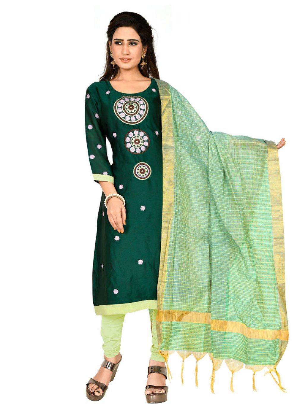 Green Party Designer Salwar Suit