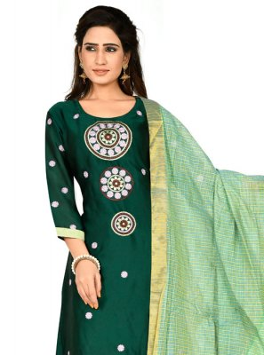 Green Party Designer Salwar Suit