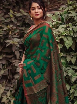 Green Party Designer Saree