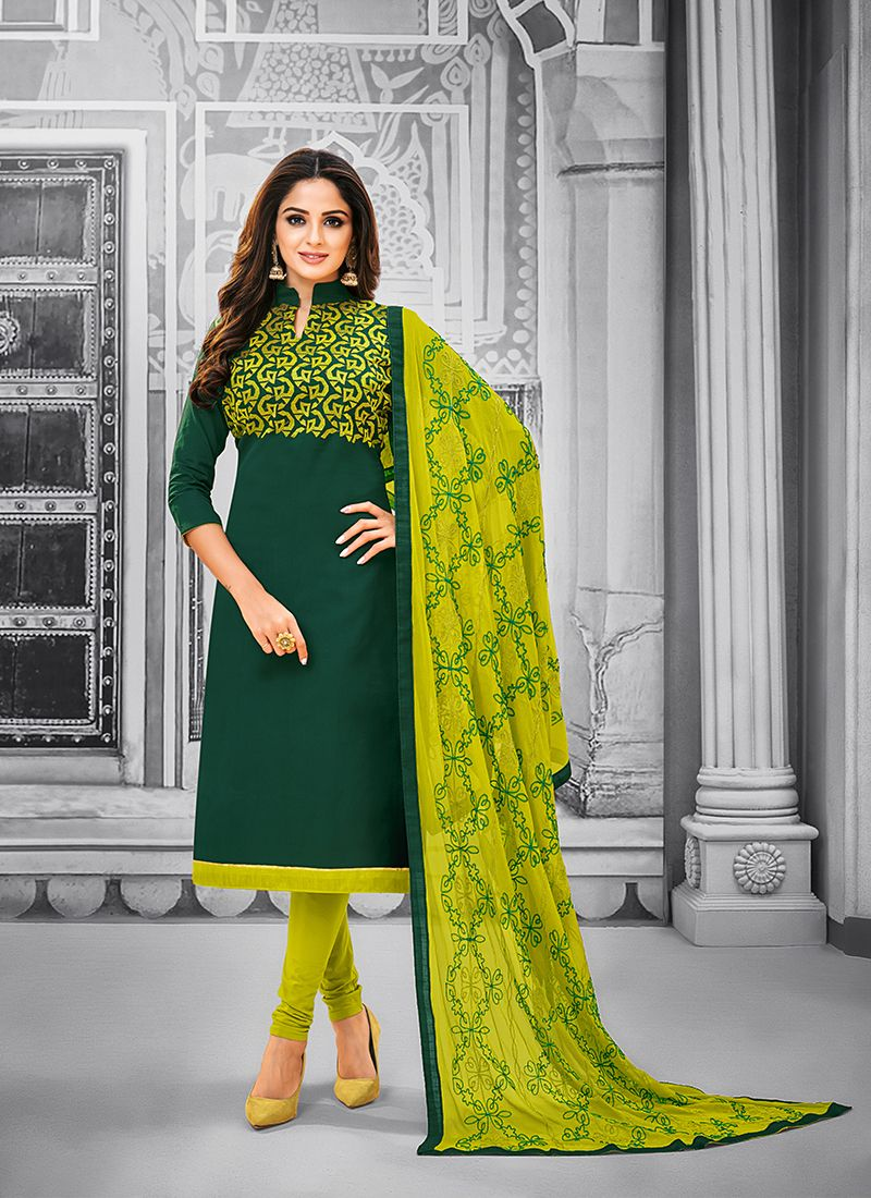 Green Party Salwar Kameez