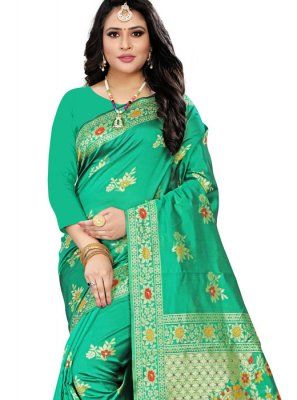 Green Party Traditional Designer Saree