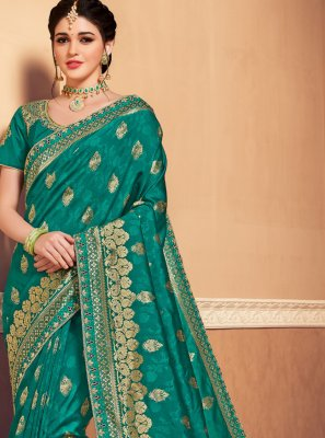 Green Party Traditional Saree