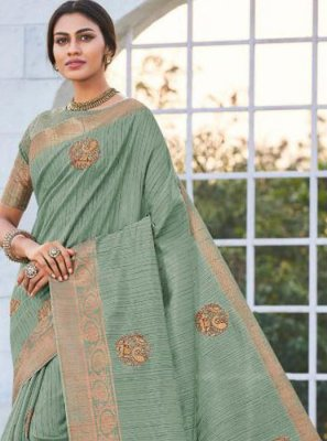 Green Party Trendy Saree
