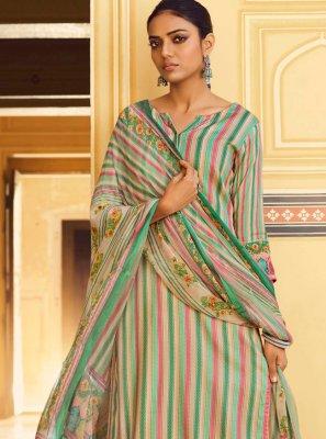 Green Pashmina Salwar Suit