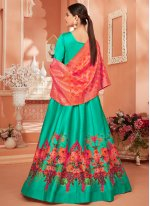 Green Printed Anarkali Salwar Kameez